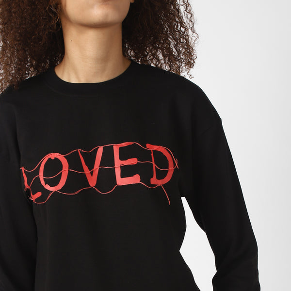 BADFIT LOVED BLACK SWEATSHIRT