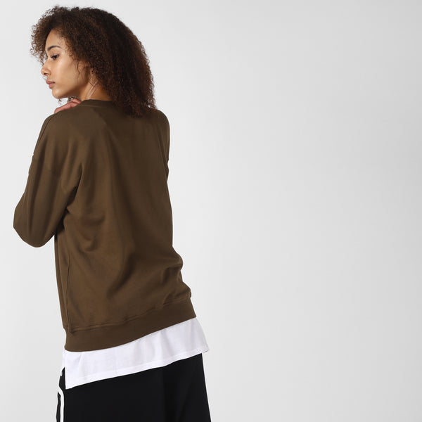 BADFIT LOVED OLIVE GREEN SWEATSHIRT