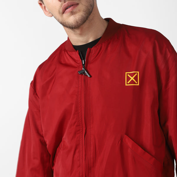 BADFIT RED BOMBER JACKET
