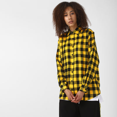 BLACK YELLOW FLANNEL SHIRT