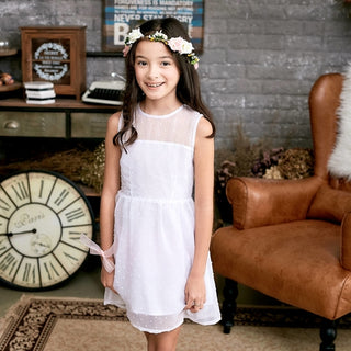 Ethereal Dotted Mesh Dress (Size 1 - 10 yrs)-DEj KidS