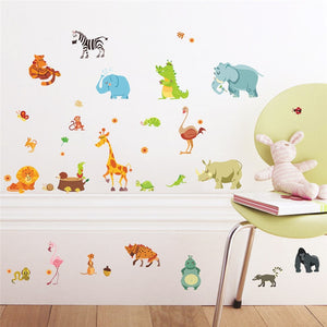 Jungle Animals Removable Wall Stickers-DEj KidS