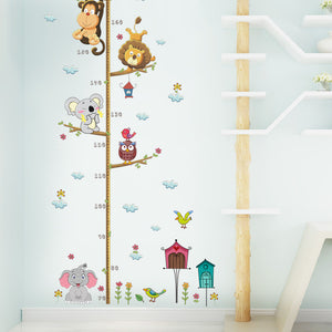 Animals Growth Chart Removable Wall Stickers-DEj KidS