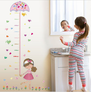Girl Growth Chart Removable Wall Stickers-DEj KidS