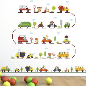 Animal Transport Removable Wall Stickers-DEj KidS