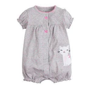 Grey Cat Romper-DEj KidS