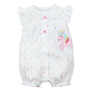 White Unicorn Romper-DEj KidS