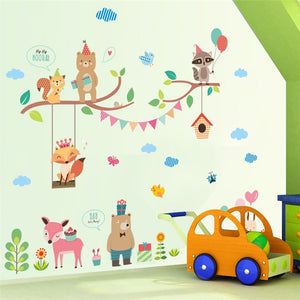 Forest Animals Removable Wall Stickers-DEj KidS