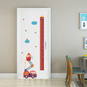 Fire Engine Growth Chart Removable Wall Stickers-DEj KidS