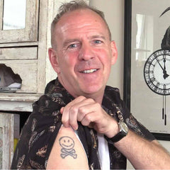 Fatboy slim Norman cook smiley tattoo | The Groovehouse