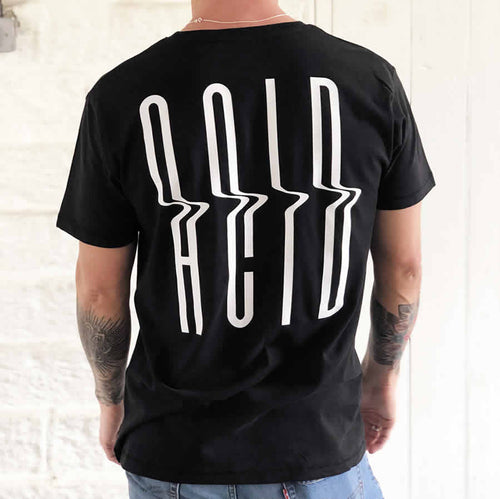 Acid back print T shirt | the groovehouse