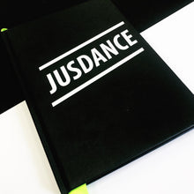Load image into Gallery viewer, Jusdance slogan notebook | The Groovehouse