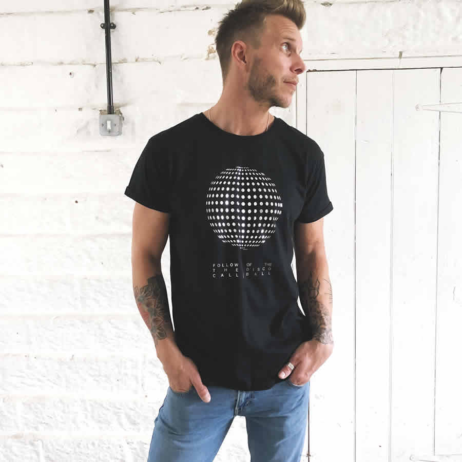 24f0f3038 ... disco ball t shirt   the groovehouse · Load image into Gallery viewer, mirror  ball tee   the groovehouse ...