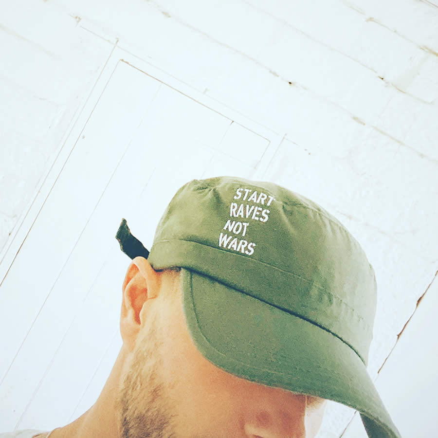 Military style cap rave hat | The Groovehouse