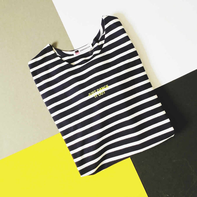 Nautical stripe slogan top | The Groovehouse