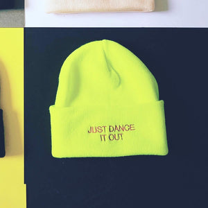 Bright yellow streetwear beanie hat | The Groovehouse