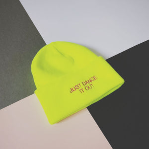 Statement beanie hat Just Dance slogan | The Groovehouse