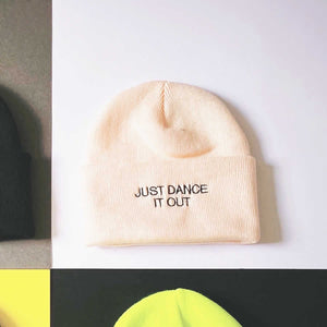 Just dance it out statement winter hat | The Groovehouse