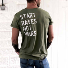 Load image into Gallery viewer, start raves not wars t shirt | the groovehouse