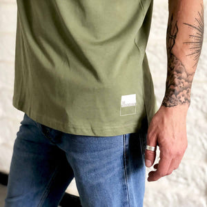 stylish khaki military rave shirt | the groovehouse