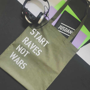 Start raves not wars tote bag | The Groovehouse