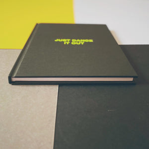 JUST DANCE IT OUT music notebook