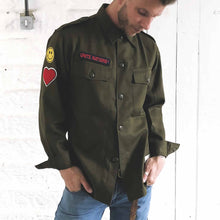 Load image into Gallery viewer, military rave shirt | the groovehouse