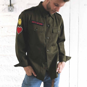 military rave shirt | the groovehouse