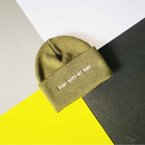 Start raves not wars slogan beanie hat | The Groovehouse