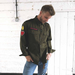 customised army surplus shirt | the groovehouse