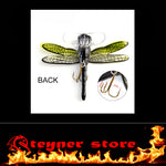 Top water Dragonfly lure with free LED