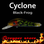 Balista Cyclone LED fishing lure colors Black frog