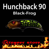Balista Hunchback 90 LED fishing lure Black frog