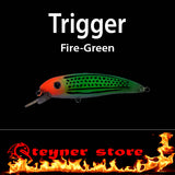 Balista Trigger LED fishing Lure fire green