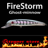 Balista Firestorm LED fishing lure Ghost minnow