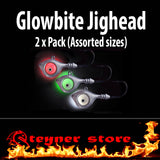 Black Glowbite Jighead LED fishing lure