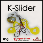 Glowbite Kabura K-Slider Yellow LED Fishing lure 85 g
