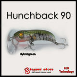 Balista Hunchback 90 LED fishing lure hybrid green
