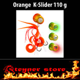 Glowbite Kabura K-Slider Orange LED Fishing lure 110 g