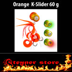 Glowbite Kabura K-Slider Orange LED Fishing lure 60 g