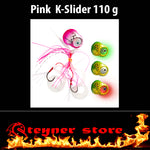 Glowbite Kabura K-Slider Pink LED Fishing lure 110 g