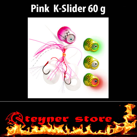Glowbite Kabura K-Slider Pink LED Fishing lure 60 g