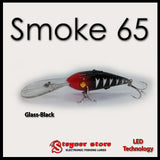 Balista Smoke 65 LED fishing lure Glass black