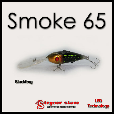 Balista Smoke 65 LED fishing lure Black frog