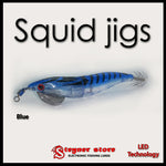 LED Squid jigs Blue