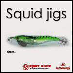 LED Squid jigs Green