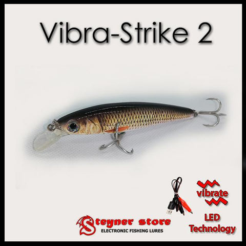 Rechargeable, Vibrating, LED fishing lure, Vibra-Strike 2