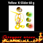 Glowbite Kabura K-Slider Yellow LED Fishing lure 60 g