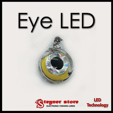 Eye shaped fishing deep drop LED