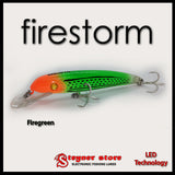 Balista Firestorm LED fishing lure firegreen